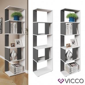 VICCO Raumteiler Raumtrenner Bücherregal Standregal Aktenregal Hochregal Aufbewahrung Regal Anthrazit (klein)