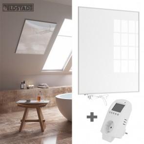 Eldstad 780 Watt Infrarotheizung + Thermostat mit Schalter Elektro Heizpaneel