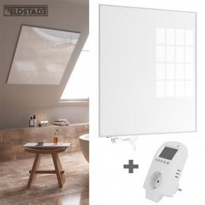 Eldstad 1200 Watt Infrarotheizung + Thermostat mit Schalter Elektro Heizpaneel