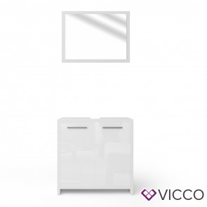 VICCO Badmöbel Set KIKO 2 Teile Weiß Hochglanz