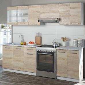 Küchenzeile Raul 240 cm Sonoma Eiche