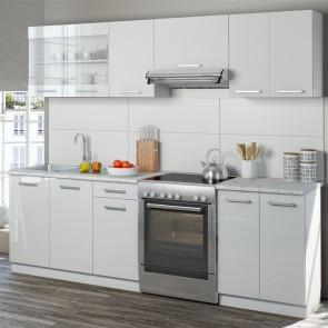 Küchenzeile Raul 240cm Weiß HGL