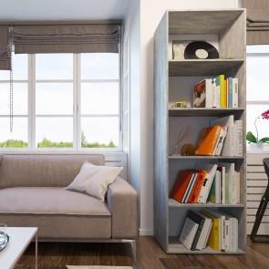 VICCO Bücherregal EASY 190 x 60 cm Grau Beton