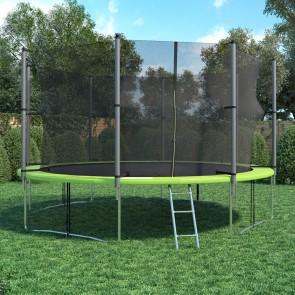 XXL Trampolin 433 cm Gartentrampolin Komplettset mit Netz innenliegend