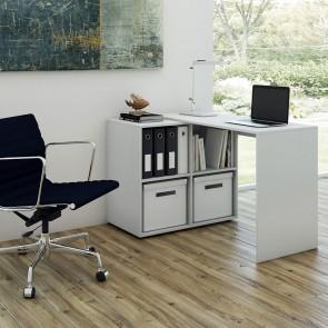 VICCO SchreibtischWinkelkombi MULTI Weiß