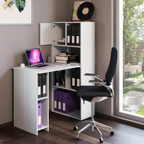 VICCO Schreibtisch Regalkombination 114 x 60 cm Weiß