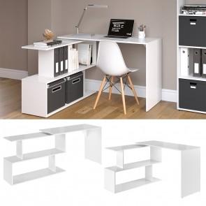 Schreibtisch Levia Weiß Hochglanz