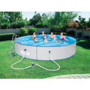 Bestway Hydrium Pool Set 460x90 Stahlwandpool rund Kartuschenfilteranlage Leiter