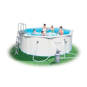 Bestway Hydrium Pool Set 300x120cm Stahlwandpool rund mit Kartuschenfilteranlage