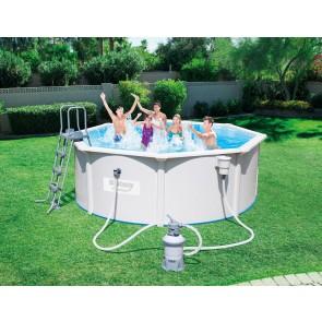 Bestway Hydrium Pool Set 360x120cm Stahlwandpool rund mit Kartuschenfilteranlage