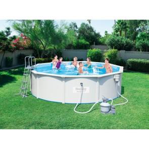 Bestway Hydrium Pool Set 460x120cm Stahlwandpool rund mit Kartuschenfilteranlage