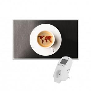 Eldstad 600 Watt Infrarotheizung + Thermostat Bildheizung Elektro Heizpaneel mit Motiv