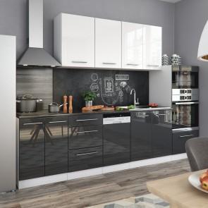 Küchenzeile 295cm Hochglanz S-Line