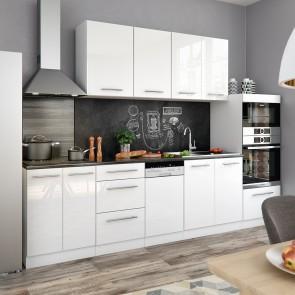 VICCO Küchenzeile 295cm Hochglanz S-Line
