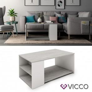VICCO Couchtisch DARIO Beton Weiß