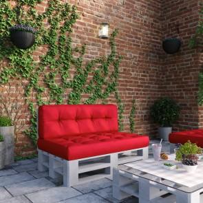 Palettenkissen Set Sitz- und Rückenkissen rot