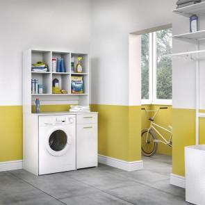 Waschmaschinenschrank XXL Weiß