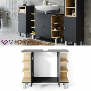 VICCO Waschtischunterschrank AQUIS Anthrazit