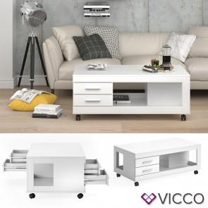 VICCO Couchtisch Bruno Weiß