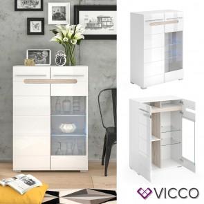 VICCO Highboard BYANKO weiß hochglanz