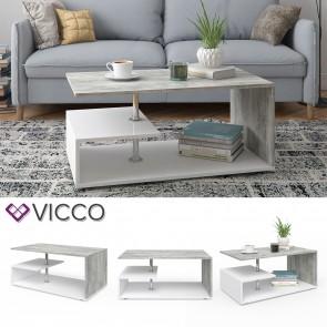 VICCO Couchtisch GUILLERMO Weiß Beton