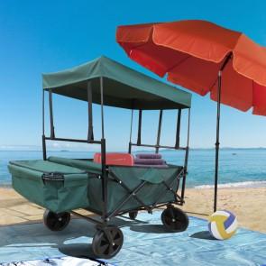 Bollerwagen Grün faltbarer Strandwagen Handwagen