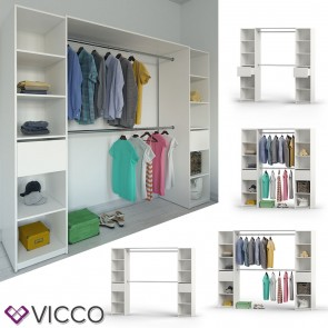VICCO Kleiderschrank Anbau VISIT BIG