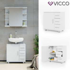 VICCO Waschtischunterschrank ILIAS Weiß