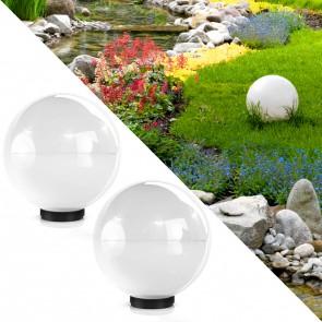 2er Set Kugelleuchte Gartenlampe Lichtkugel 30 cm