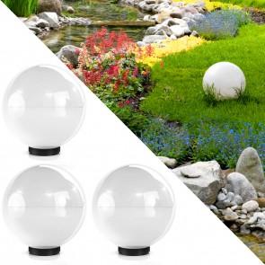 3er Set Kugelleuchte Gartenlampe Lichtkugel 30 cm