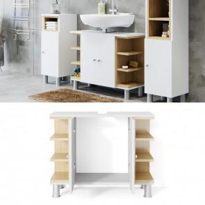 VICCO Waschtischunterschrank AQUIS Weiß