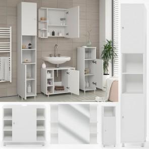 VICCO Badmöbel Set FYNN 4 Teile Weiß
