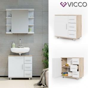 VICCO Waschtischunterschrank ILIAS Sonoma Eiche / Weiß