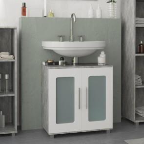 VICCO Waschtbeckenunterschrank RAYK 60 cm Grau Beton