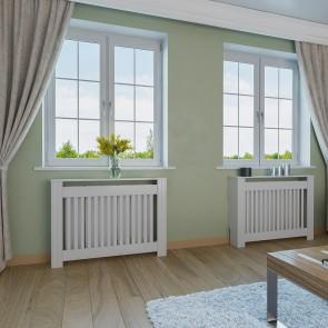 VICCO Heizkörperverkleidung Landhaus I 112 cm Weiß