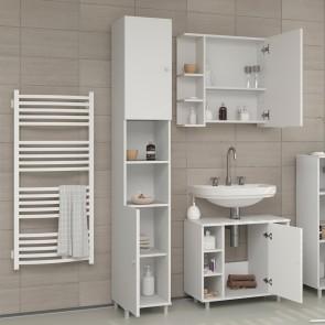 VICCO Badschrank FYNN 190 x 30 cm Weiß