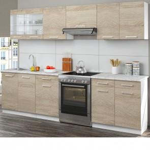 Küchenzeile 270cm Sonoma Eiche R-Line