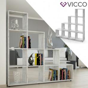Vicco Treppenregal mit 10 Fächern Beton