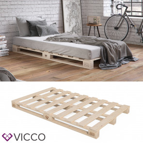 VICCO Palettenbett 140x200