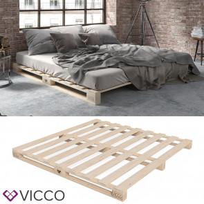 VICCO Palettenbett 200x200