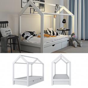 VITALISPA Hausbett WIKI 90x200cm mit Schubladen Holz Weiß