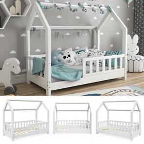 VITALISPA Hausbett DESIGN 80x160cm Holz Weiß