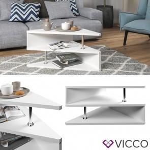 VICCO Couchtisch TRIANGLE Weiß