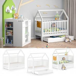 VITALISPA  Babybett WIKI 70x140 cm weiß + Schublade