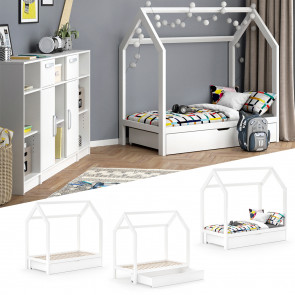 VITALISPA Kinderbett WIKI 70x140 cm weiß + Schublade
