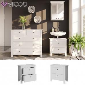 VICCO Waschbeckenunterschrank ALBATROS Weiß