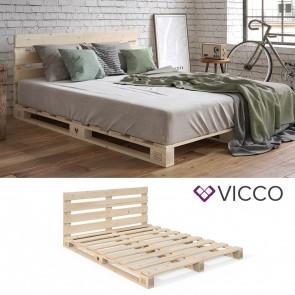 VICCO Palettenbett 160x200 mit Kopfteil