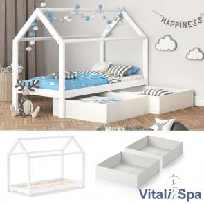 VITALISPA Hausbett WIKI MDF + Faltboxen weiß