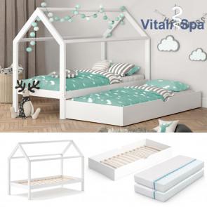 VITALISPA Hausbett WIKI MDF + Unterbett + 2 Matratzen