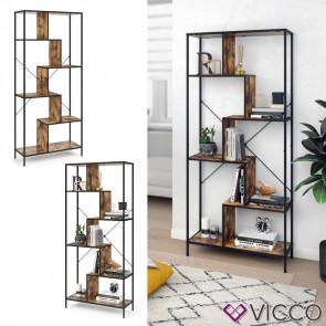VICCO Loft Bücherregal Fyrk 180 x 80 x 30 cm